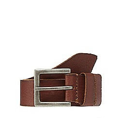 Mantaray - Tan leather stitched belt