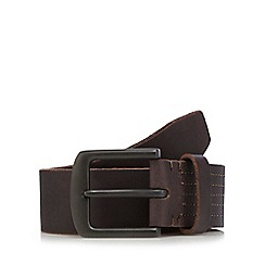 Mantaray - Brown leather stitched belt