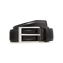 J by Jasper Conran - Big and tall designer black smart leather belt