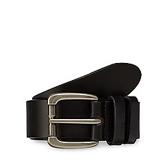 RJR.John Rocha - Big and tall designer black leather roll buckle belt