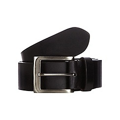 RJR.John Rocha - Big and tall designer black coated leather belt