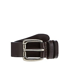 RJR.John Rocha - Designer dark brown leather roll buckle belt