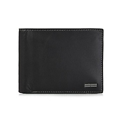 J by Jasper Conran - Black billfold flap wallet in a gift box