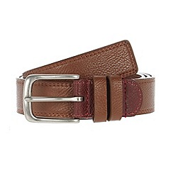 Red Herring - Tan colour insert slim belt