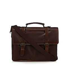 RJR.John Rocha - Designer brown 'Brooklyn' leather briefcase