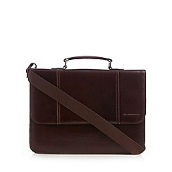 RJR.John Rocha - Designer brown leather briefcase