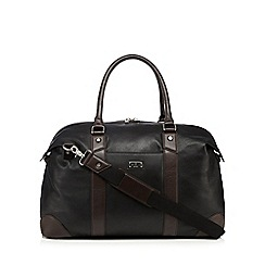 Jeff Banks - Designer black leather holdall
