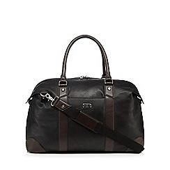 Jeff Banks - Designer black leather holdall