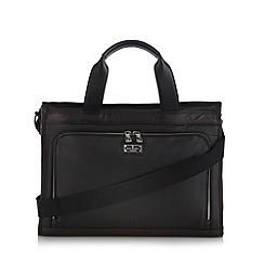 Jeff Banks - Designer black leather laptop briefcase