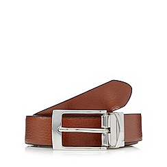 J by Jasper Conran - Designer black leather reversible belt