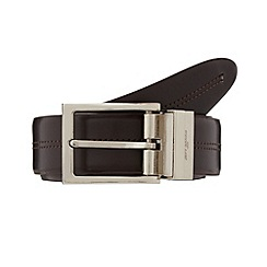 Jeff Banks - Designer brown stitched reversible leather belt