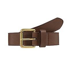 Red Herring - Brown leather skinny belt