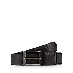 RJR.John Rocha - Black grained leather belt in a gift box