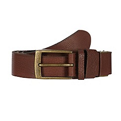 RJR.John Rocha - Brown grained leather belt in a gift box