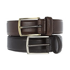 Thomas Nash - Pack of two pin buckle belts