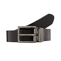 Thomas Nash - Black leather reversible belt