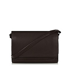 Red Herring - Brown PU despatch bag
