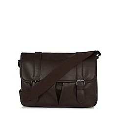 Red Herring - Brown PU satchel bag