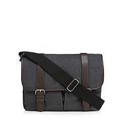 Red Herring - Grey canvas satchel bag