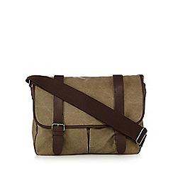 Red Herring - Natural canvas satchel bag