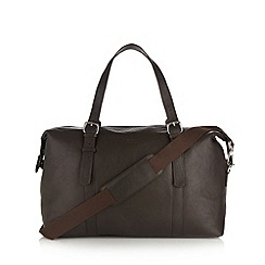 Osprey - Brown grained leather holdall