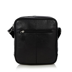 Osprey - Black leather cross body bag