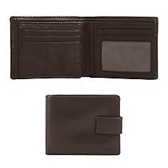 Jeff Banks - Designer brown leather tab wallet