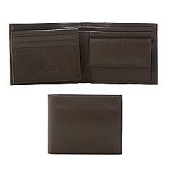 Jeff Banks - Designer brown leather billfold wallet