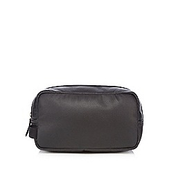 Jeff Banks - Designer black leather wash bag