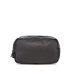 Jeff Banks - Designer black leather wash bag
