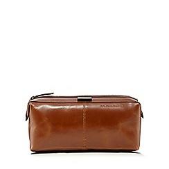 RJR.John Rocha - Designer tan leather wash bag