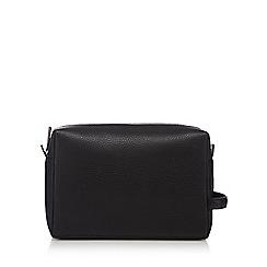 Hammond & Co. by Patrick Grant - Designer black pebble grain leather wash bag