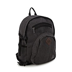 Mantaray - Grey canvas backpack