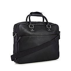 J by Jasper Conran - Designer black two handle briefcase