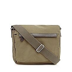 RJR.John Rocha - Designer khaki canvas utility bag