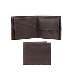 Jeff Banks - Designer brown leather logo wallet