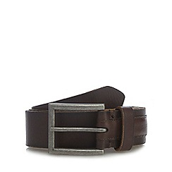 RJR.John Rocha - Big and tall designer dark brown leather debossed logo belt