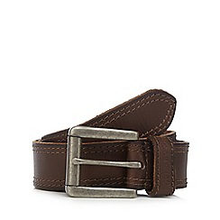 RJR.John Rocha - Big and tall designer tan leather roller buckle belt