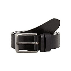 RJR.John Rocha - Designer black two keeper leather belt