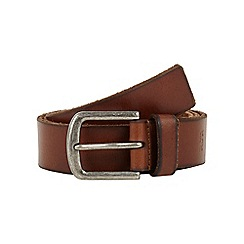 RJR.John Rocha - Big and tall designer tan burnished edge leather belt