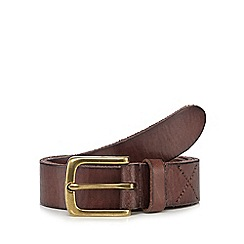 RJR.John Rocha - Designer brown cross detail leather belt