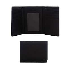 Red Herring - Black grained leather trifold wallet