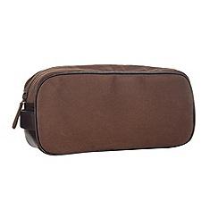 Mantaray - Brown canvas wash bag