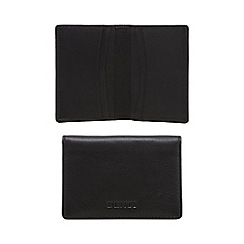 Dents - Black leather card holder in a gift box