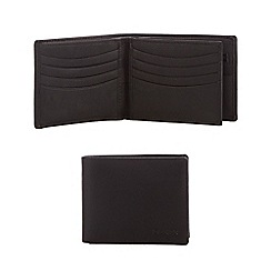 Dents - Black grained leather wallet in a gift box