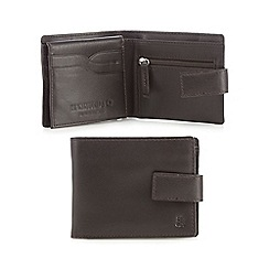 Hammond & Co. by Patrick Grant - Brown leather tabbed billfold wallet in a gift box