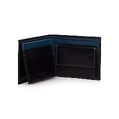 Jeff Banks - Designer black leather colour block wallet