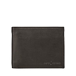J by Jasper Conran - Designer black leather billfold wallet with pass case