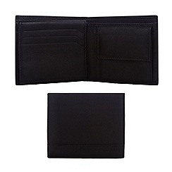 J by Jasper Conran - Designer black leather double stitch wallet