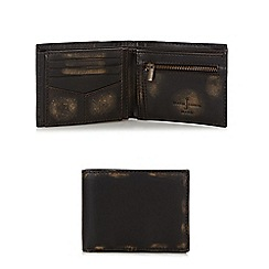 J by Jasper Conran - Designer brown leather burnished flip out wallet